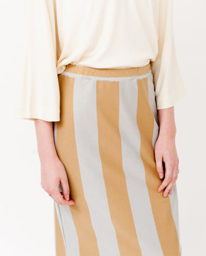 PAM-SOPHIA Organic Cotton Skirt In Stone And Flint