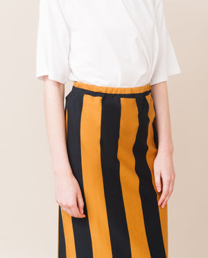 PAM-SOPHIA Organic Cotton Skirt In Navy And Rust