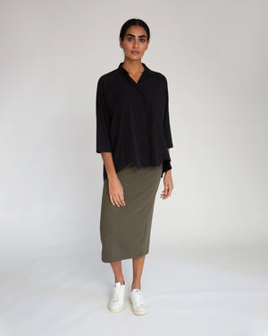 Pam Organic Cotton Skirt In Army