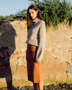 Pam Organic Cotton Skirt In Tan