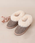 PANTUFAS Sheepskin Slippers in Herringbone