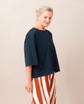 PATRICIA Organic Cotton Top In Deep Indigo