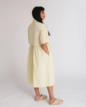 Patsy Organic Cotton Dress In Soft Green