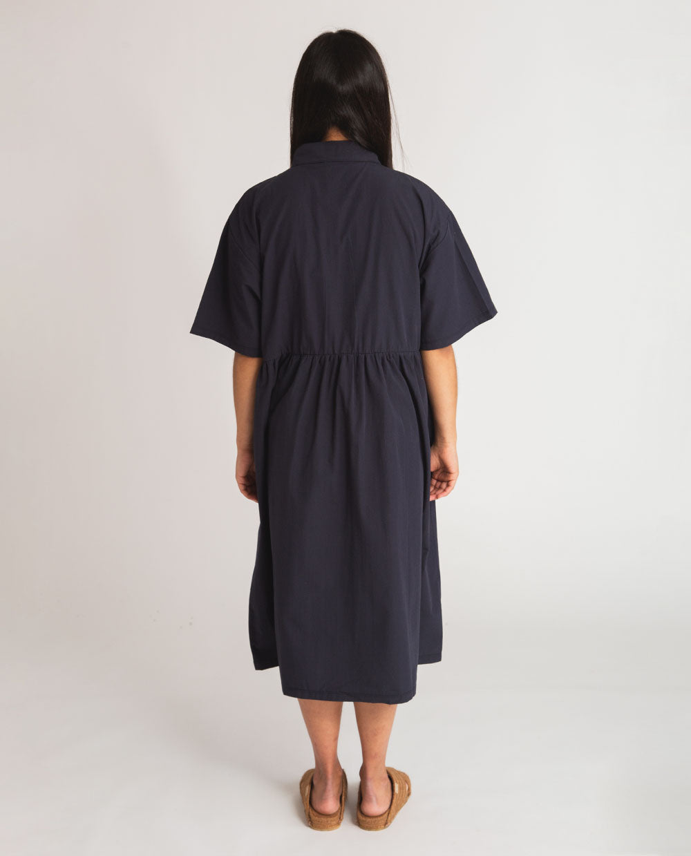 Patsy Organic Cotton Dress In Navy