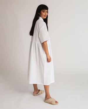 Patsy Organic Cotton Dress In White
