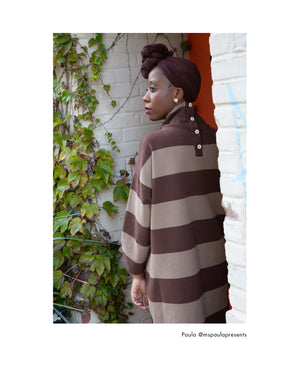 Xena-Sue Organic Cotton Dress In Chocolate & Mocha