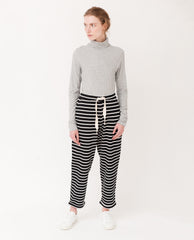 PEDI Organic Cotton Trousers In Black And White
