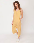 Penelope Organic Cotton Jumpsuit In Honey