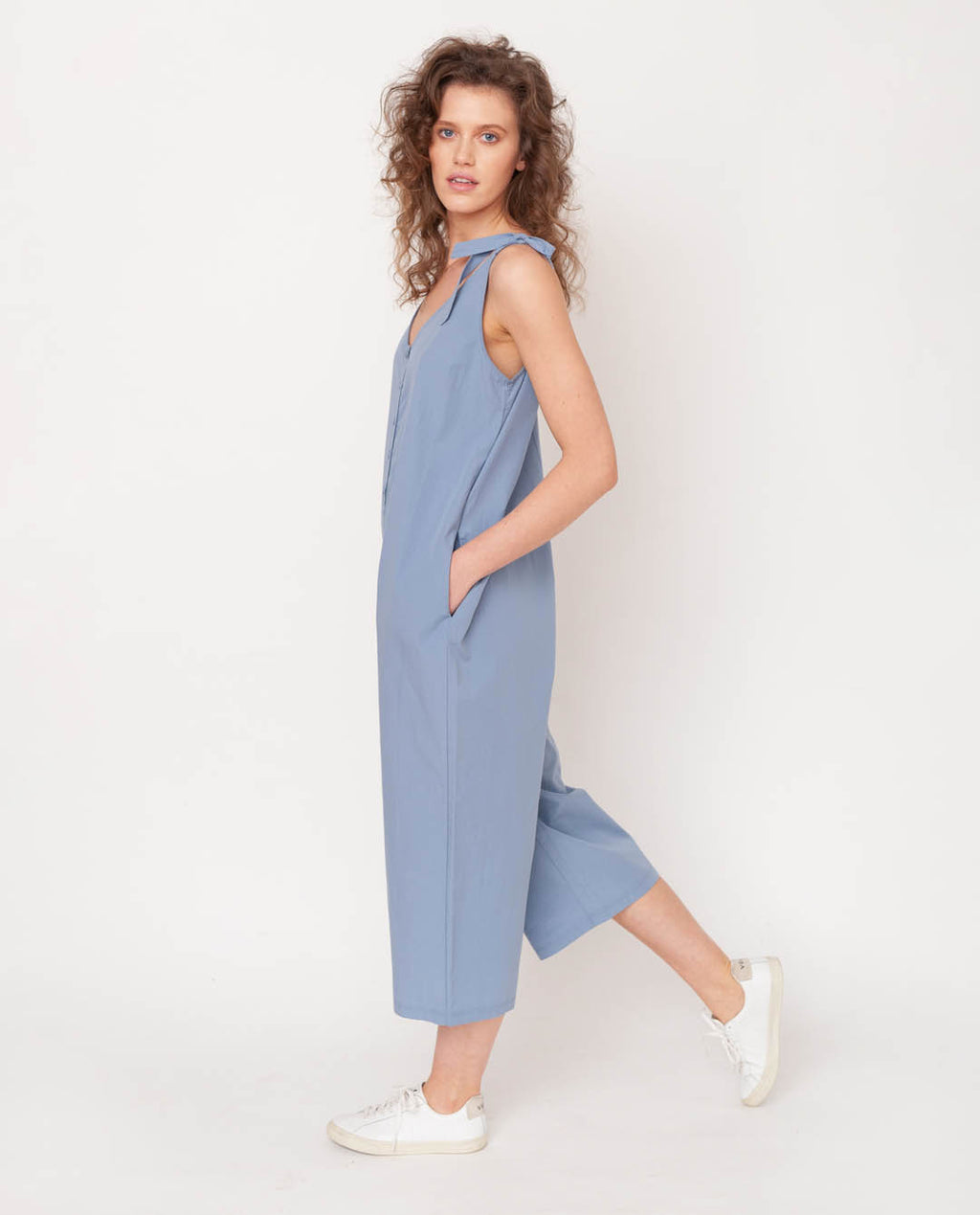 Penelope Organic Cotton Jumpsuit In Sky