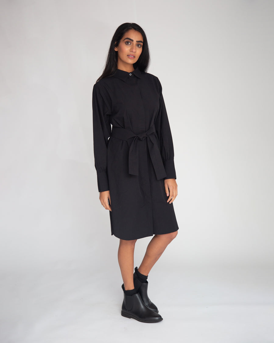 Perla Organic Cotton Dress In Black