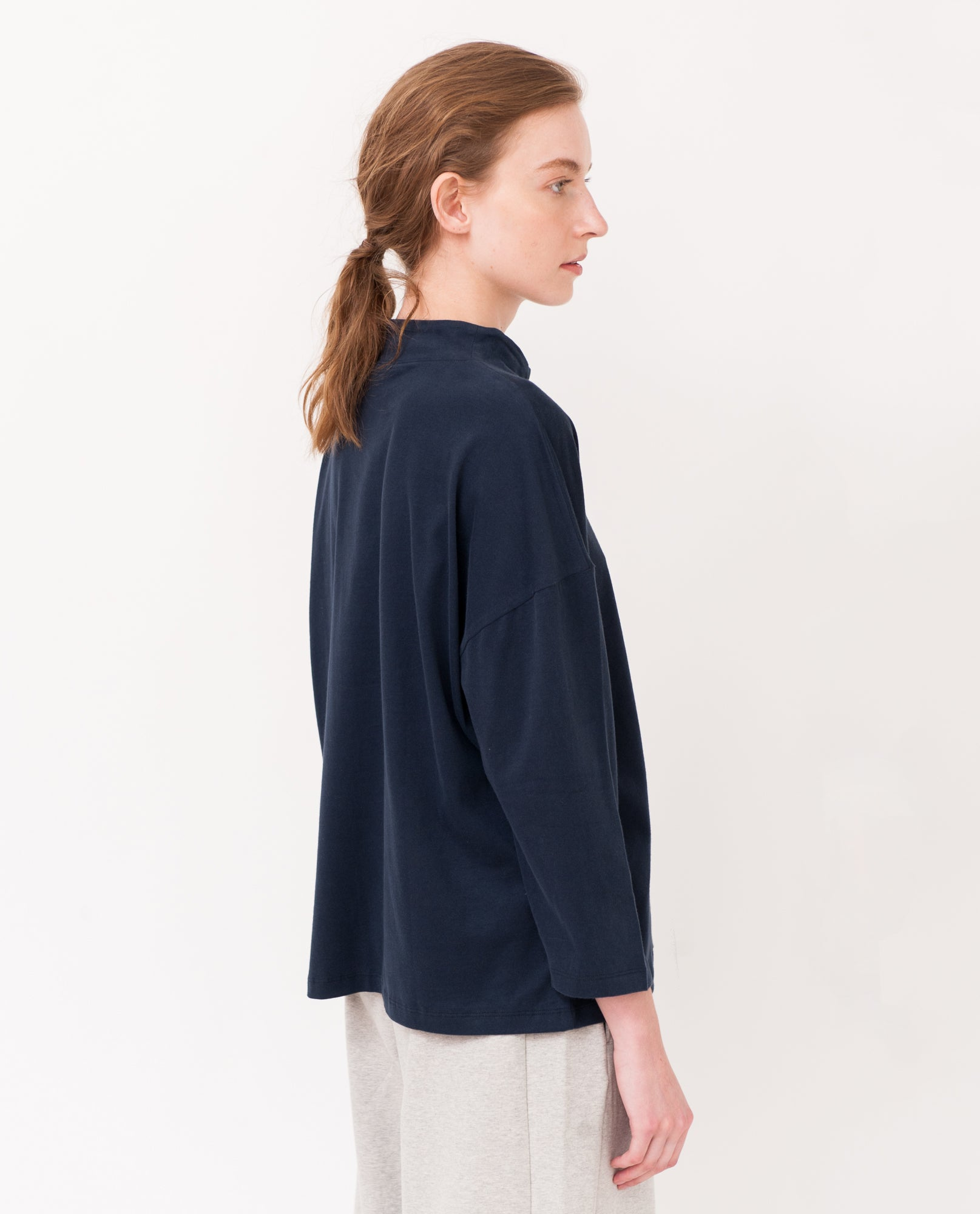 PREMA Organic Cotton Top In Navy