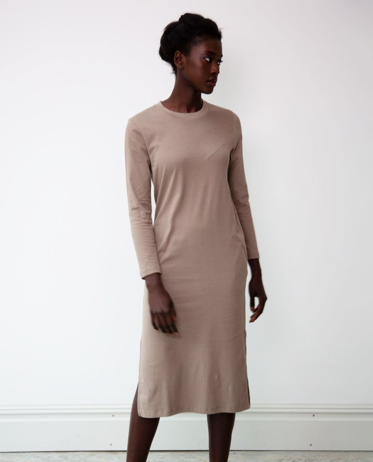 Raina Organic Cotton Dress In Olive
