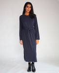 Raina Organic Cotton Dress In Navy