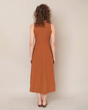 Remi Organic Cotton Dress In Coffee