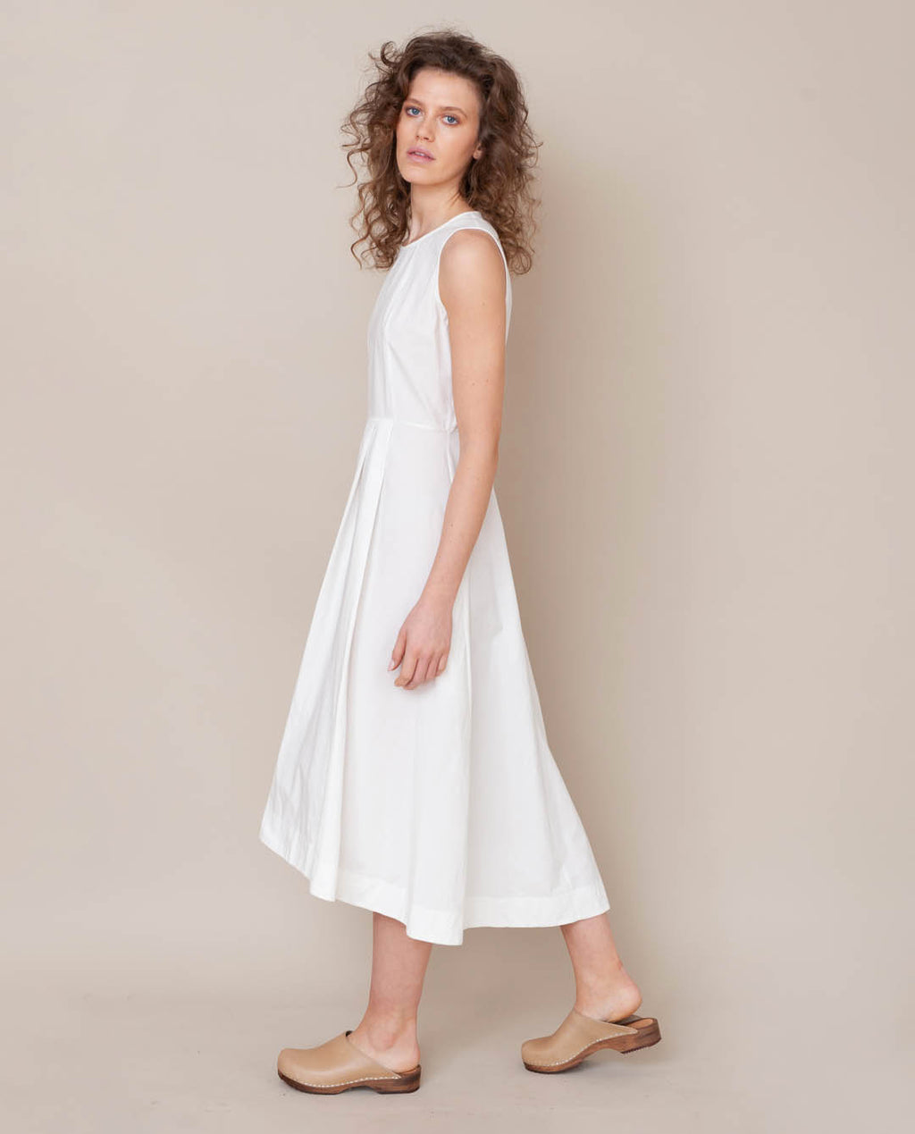 Remi Organic Cotton Dress In Off White