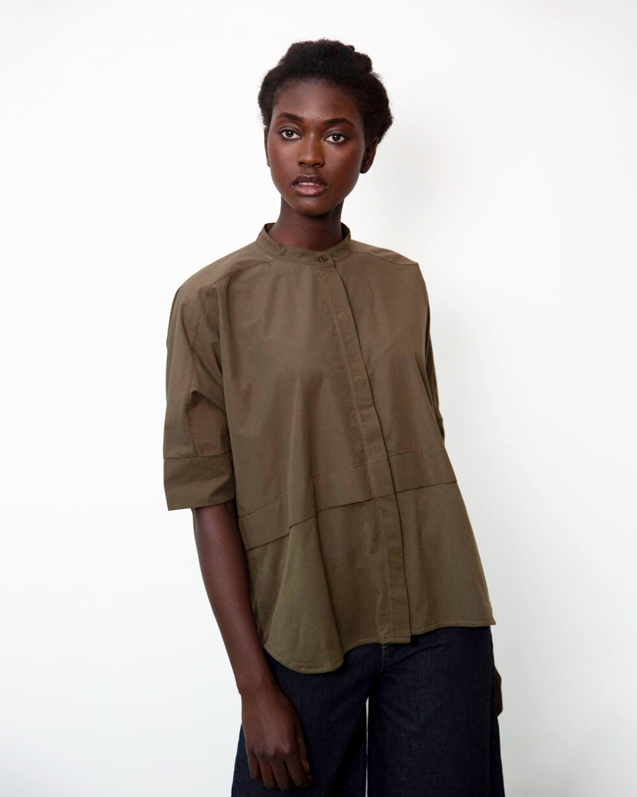 Robin Organic Cotton Shirt In Army