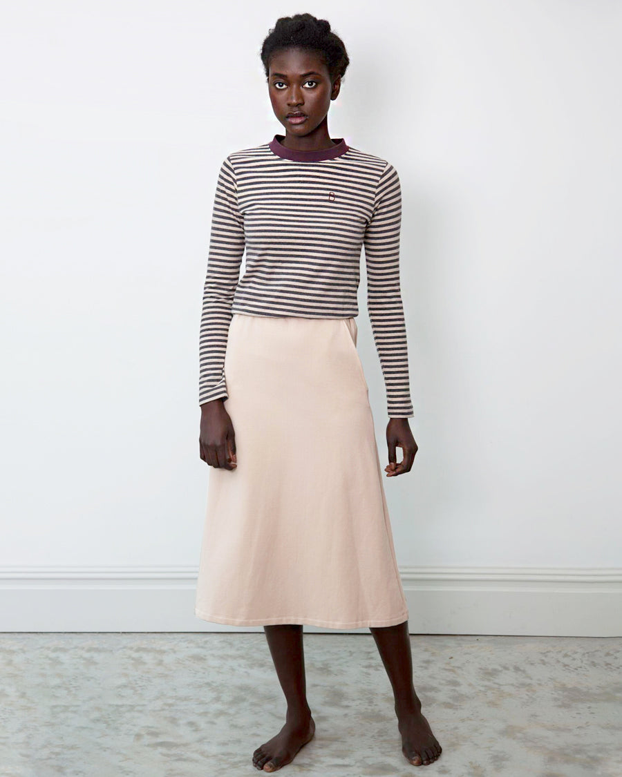 Ronda Organic Cotton Skirt In Sand