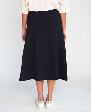 Ronda Organic Cotton Skirt In Black
