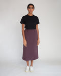 Ronda Organic Cotton Skirt In Plum
