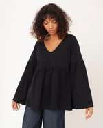 ROSA Organic Cotton Top In Black