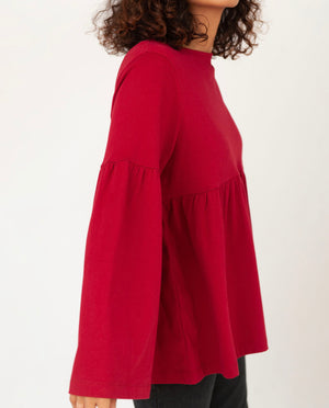 ROSA Organic Cotton Top In Cherry