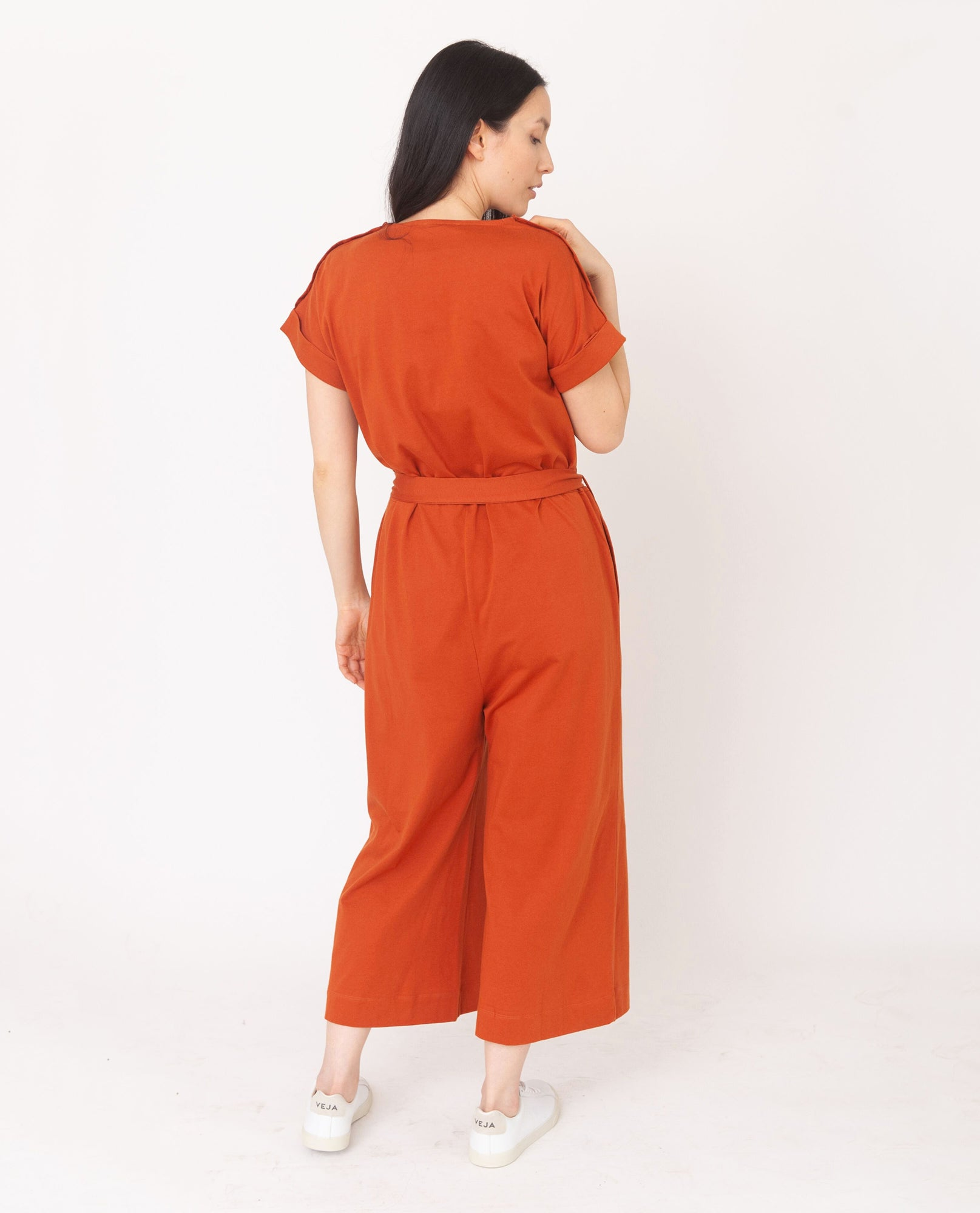 ROSANNA Organic Cotton Jumpsuit In Madder