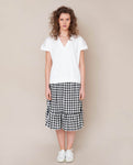 Rose-Gee Linen Skirt In Gingham