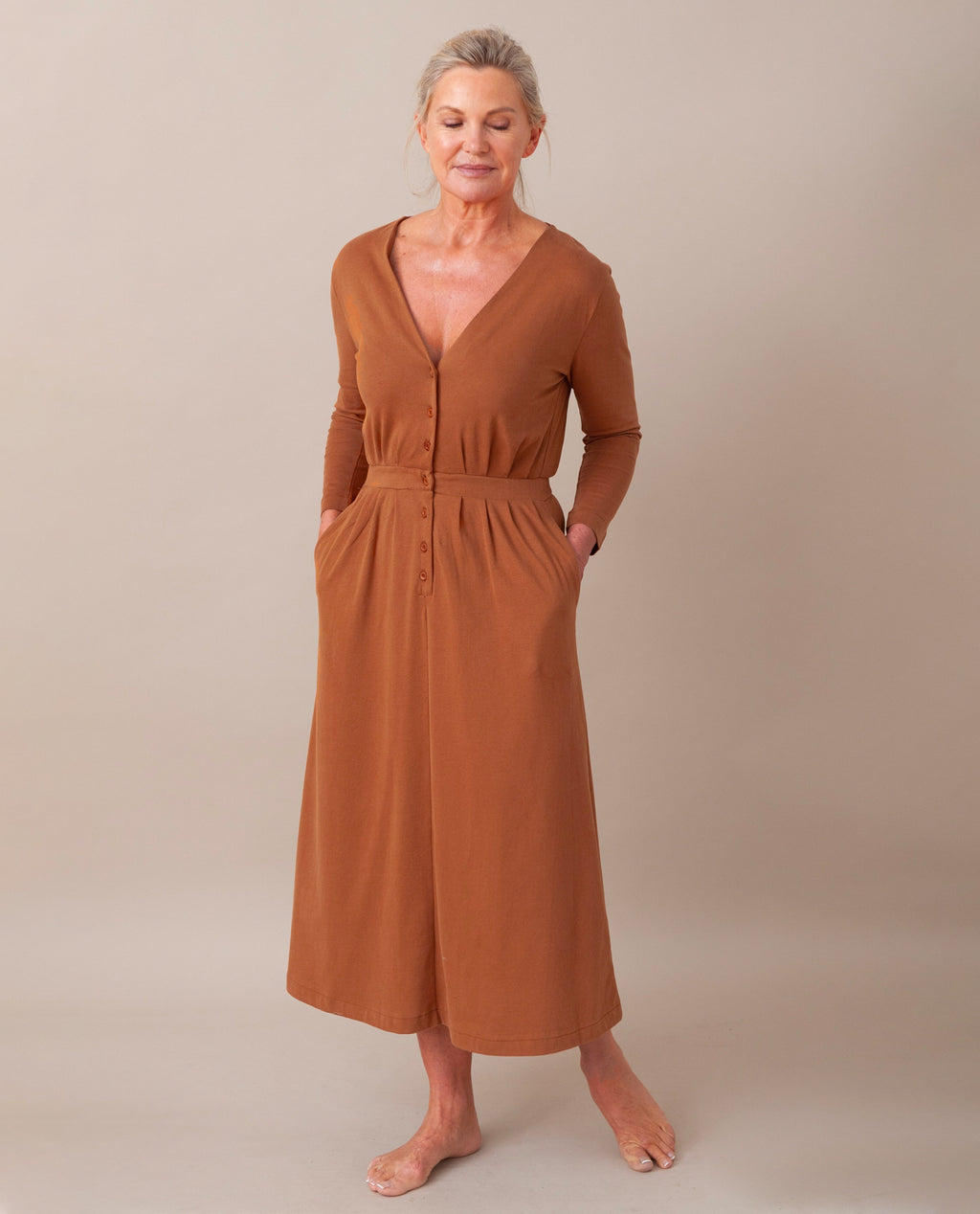 RUTH Organic Cotton Dress In Coffee