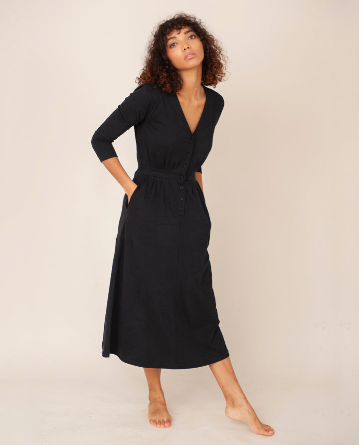 RUTH Organic Cotton Dress In Black