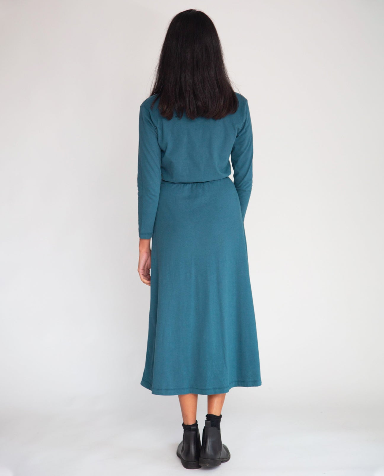 Ruth Organic Cotton Dress In Teal