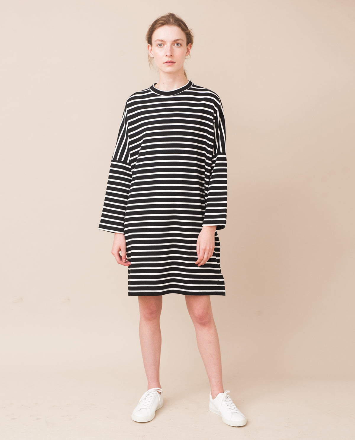 SARASI Organic Cotton Dress In Black And White