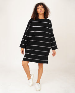SARASI-SUE Organic Cotton Dress In Black & Off White