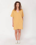 Sasha Organic Cotton Dress In Honey