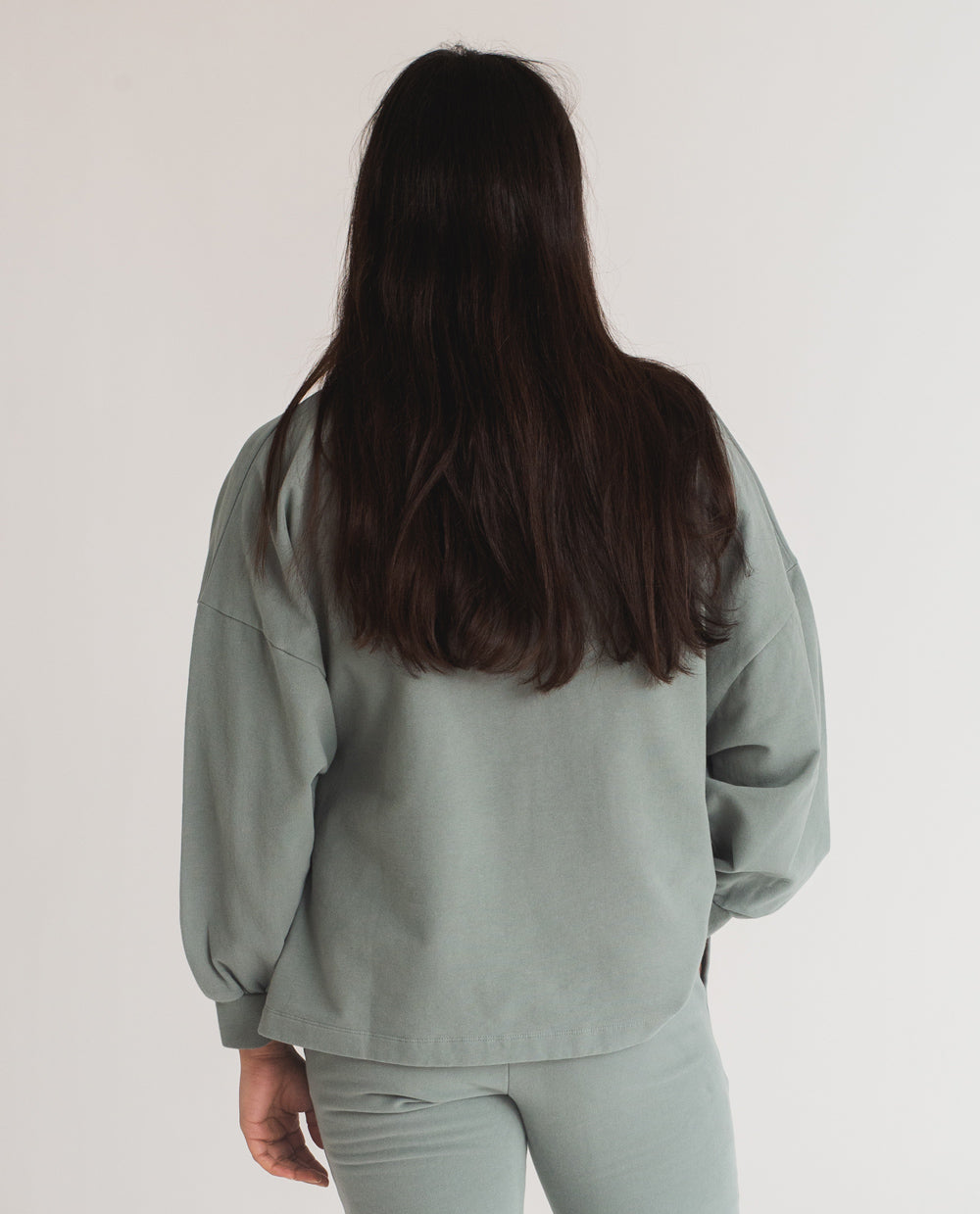 Serenity Organic Cotton Jumper In Ocean