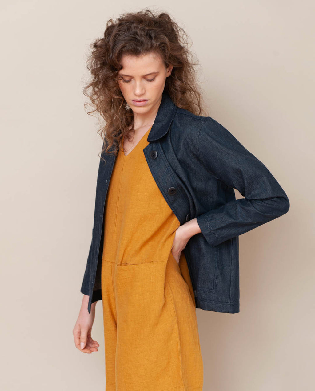 Sharon- Dee Organic Cotton Jacket In Denim