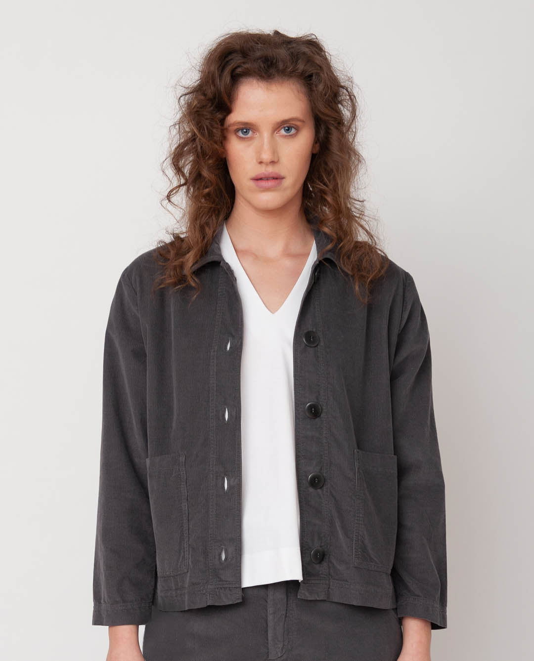 Sharon Organic Cotton Jacket In Slate