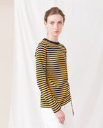 SHOBA Organic Cotton Top In Turmeric And Navy
