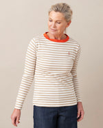 SHOBA Organic Cotton Top In Sand And Madder
