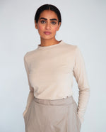 Shoba-Jane Organic Cotton Top In Sand