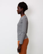 Shoba Organic Cotton Top In Black & Tan
