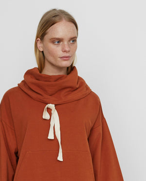 SIMONE Organic Cotton Sweatshirt In Cinnamon