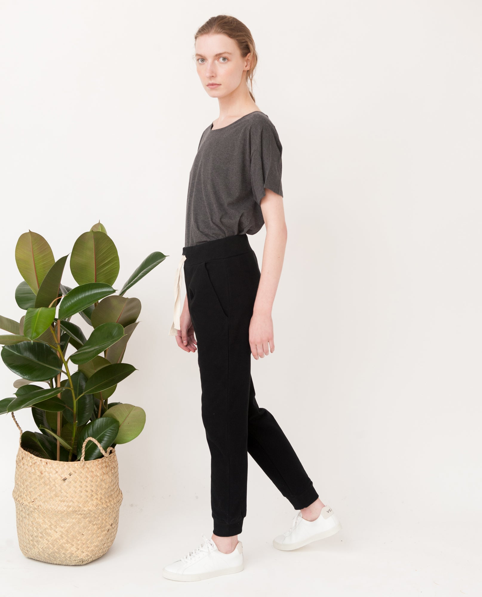 SKYLER Organic Cotton Trousers In Black