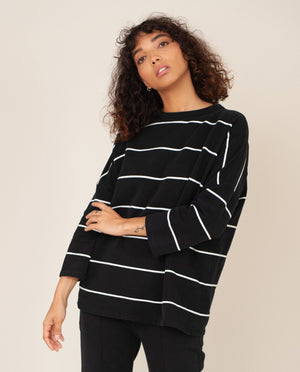 SOMA-SUE Organic Cotton Top In Black & Off White