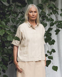 Naomi-May Organic Cotton & Linen Shirt In Cream