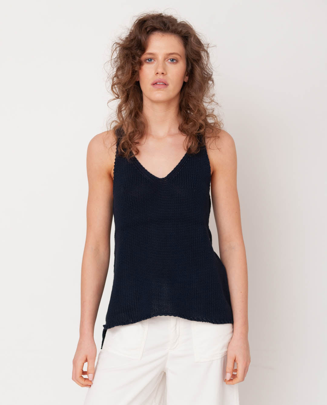 Stella Organi Cotton Vest In Navy