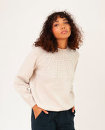 SUKEY Superfine Lambswool Jumper In Swansdown