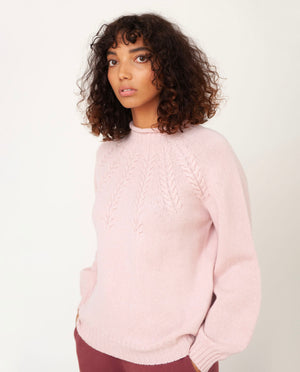 SUKEY Superfine Lambswool Jumper In Nymph