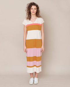 Sydney Organic Cotton Dress In Sunny Bold Stripe