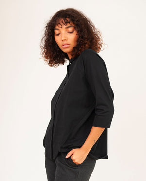 Terry Organic Cotton Shirt In Black
