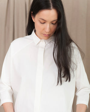 TERRY Organic Cotton Shirt In Off White